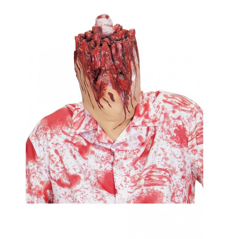 Máscara cabeza decapitada
