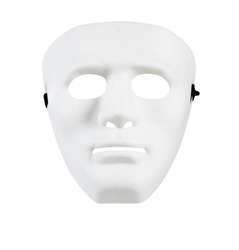 Máscara blanca de delincuente callejero