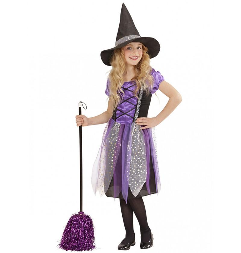 Disfraz de bruja estrellita para niña