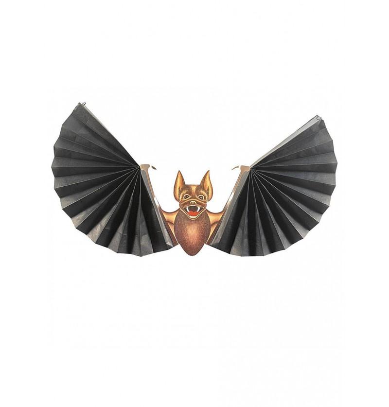 Murciélago con alas de abanico