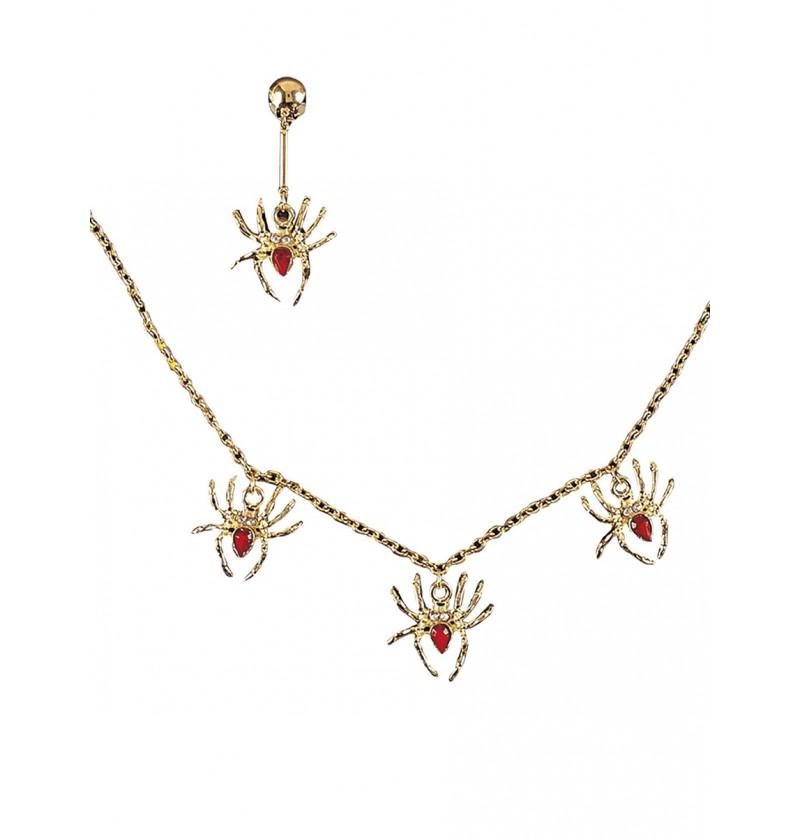 Collar y pendiente de reina araña
