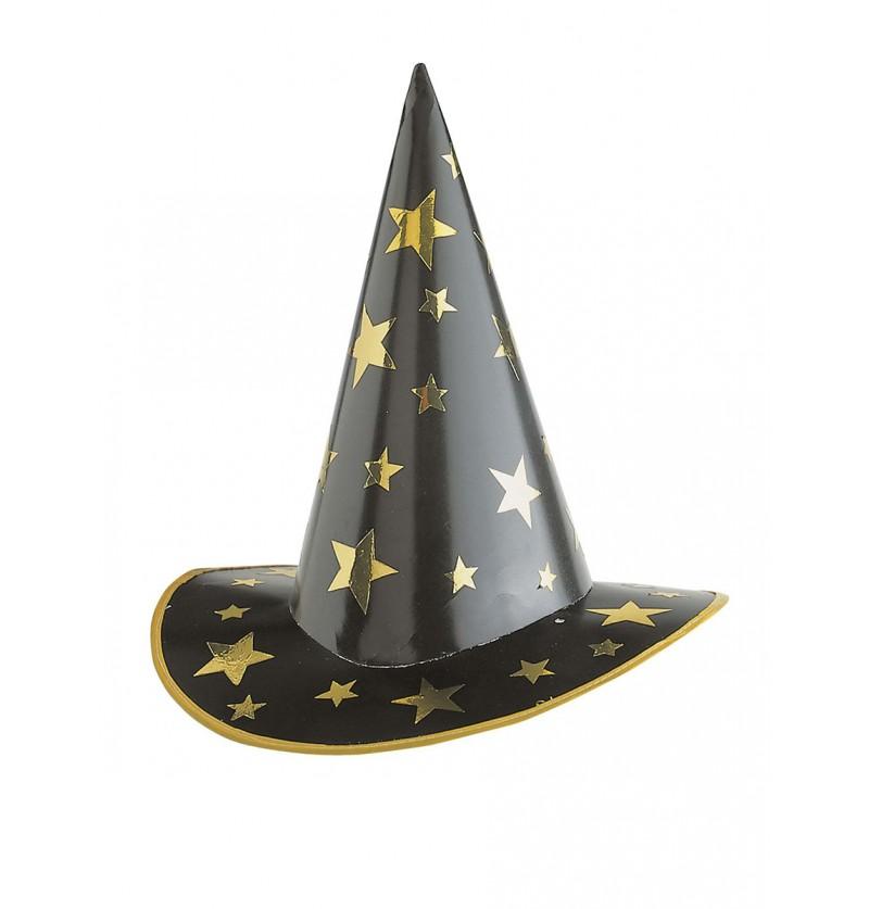 Sombrero de hechicero con estrellas