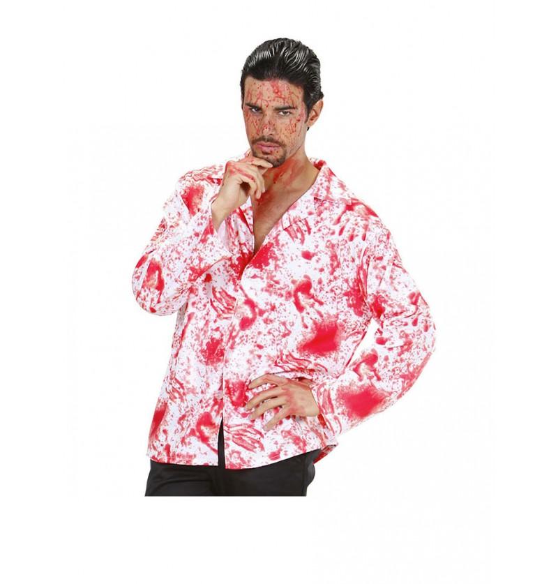 Camisa de hombre ensangrentado