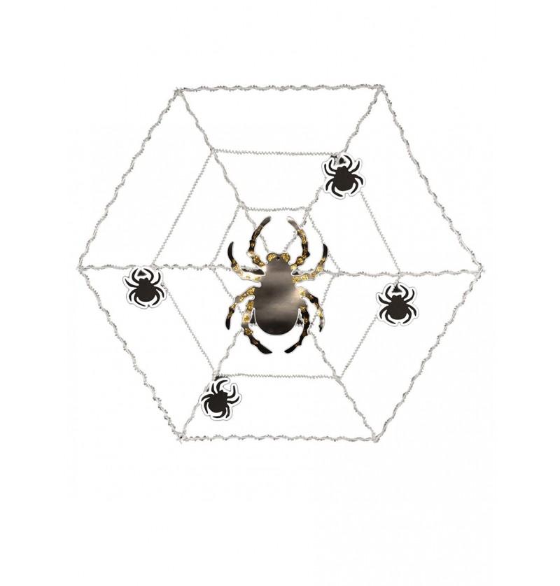 Telaraña decorativa con araña