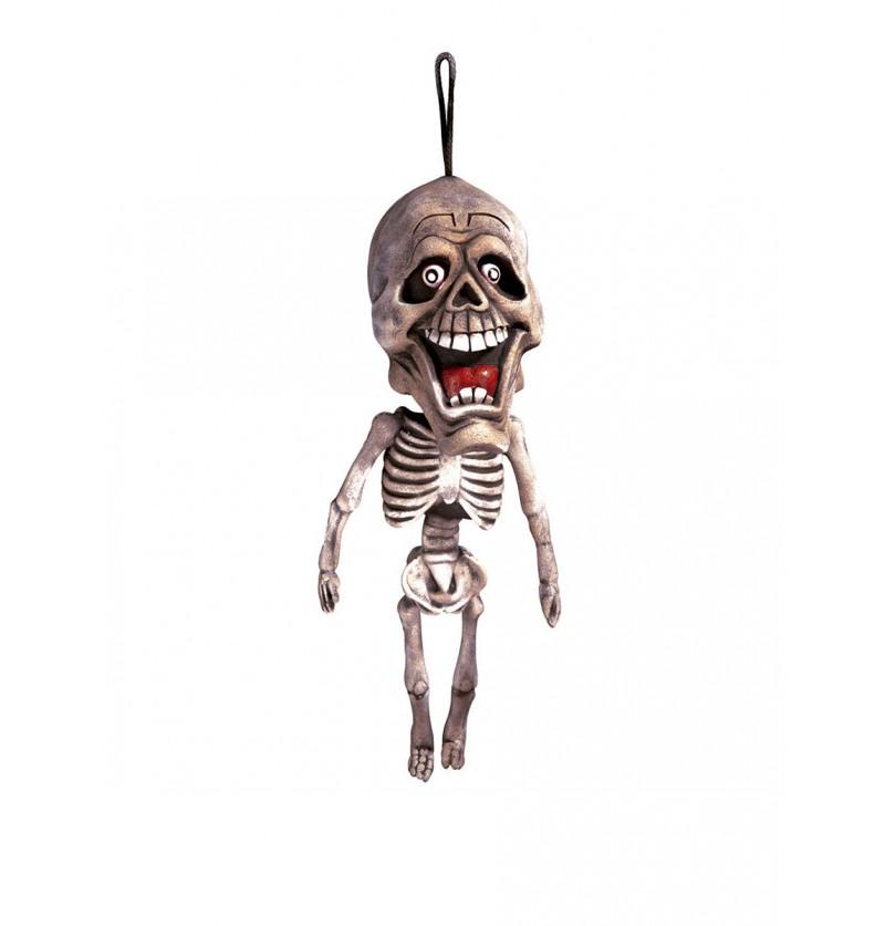 Esqueleto cabezón colgante de 60 cm.