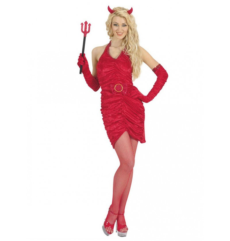 Disfraz de diablesa infernal sexy para mujer