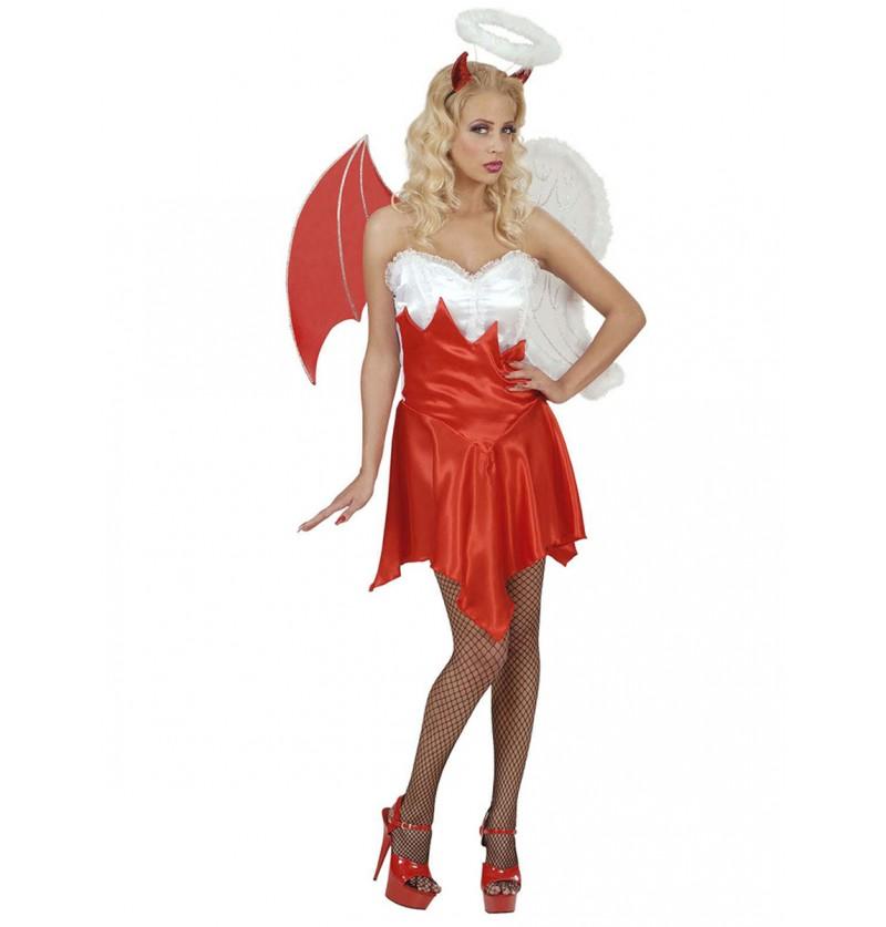 Disfraz de ángel y demonio sexy para mujer