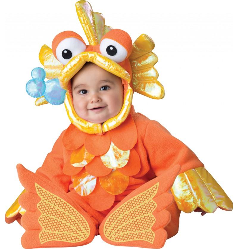 Disfraz de pez dorado para bebé
