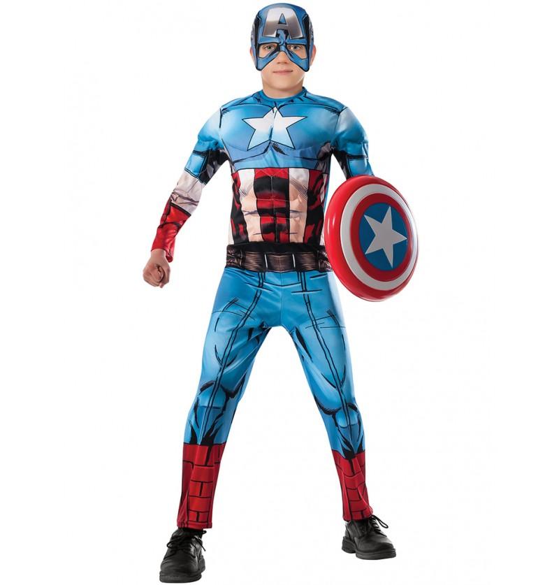 Disfraz de Capitán América Vengadores Unidos deluxe para niño