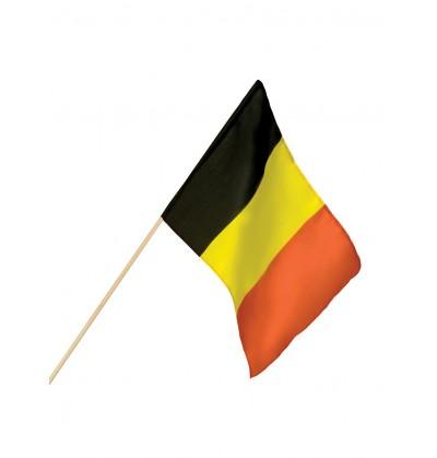 bandera de blgica de mano