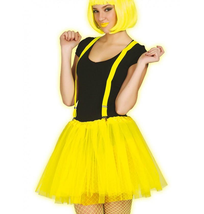 Tutú amarillo neón para mujer