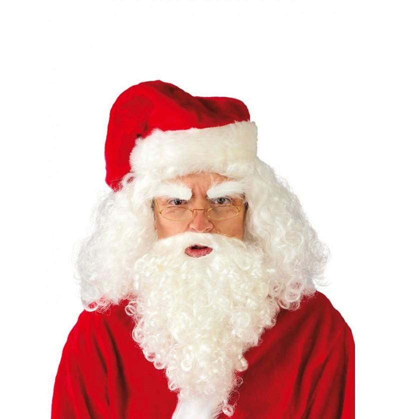 Peluca de Papá Noel con barba