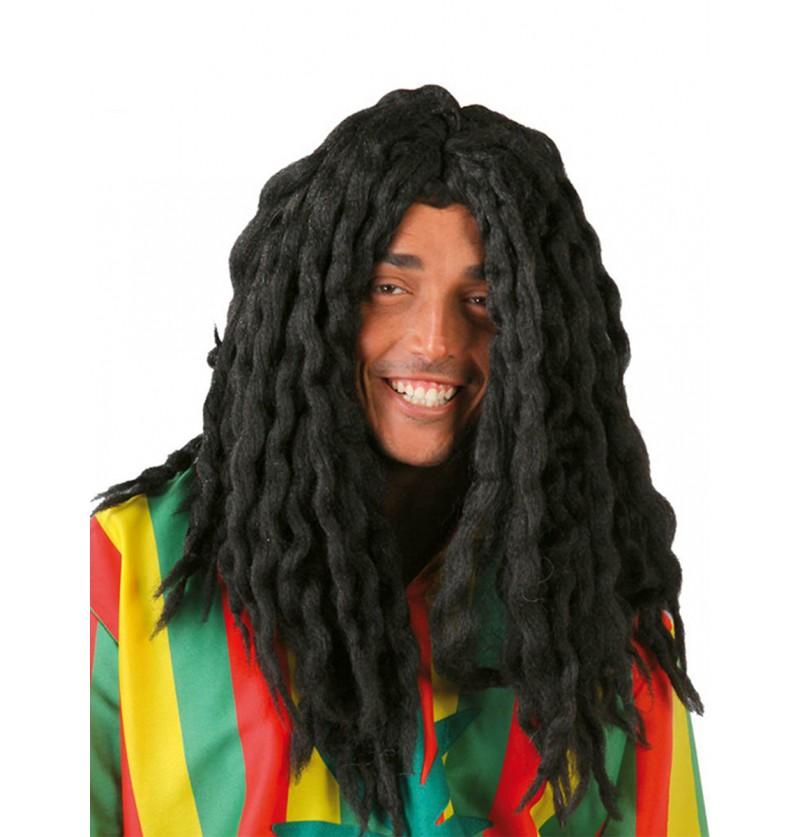 Peluca rastafari jamaicano negra