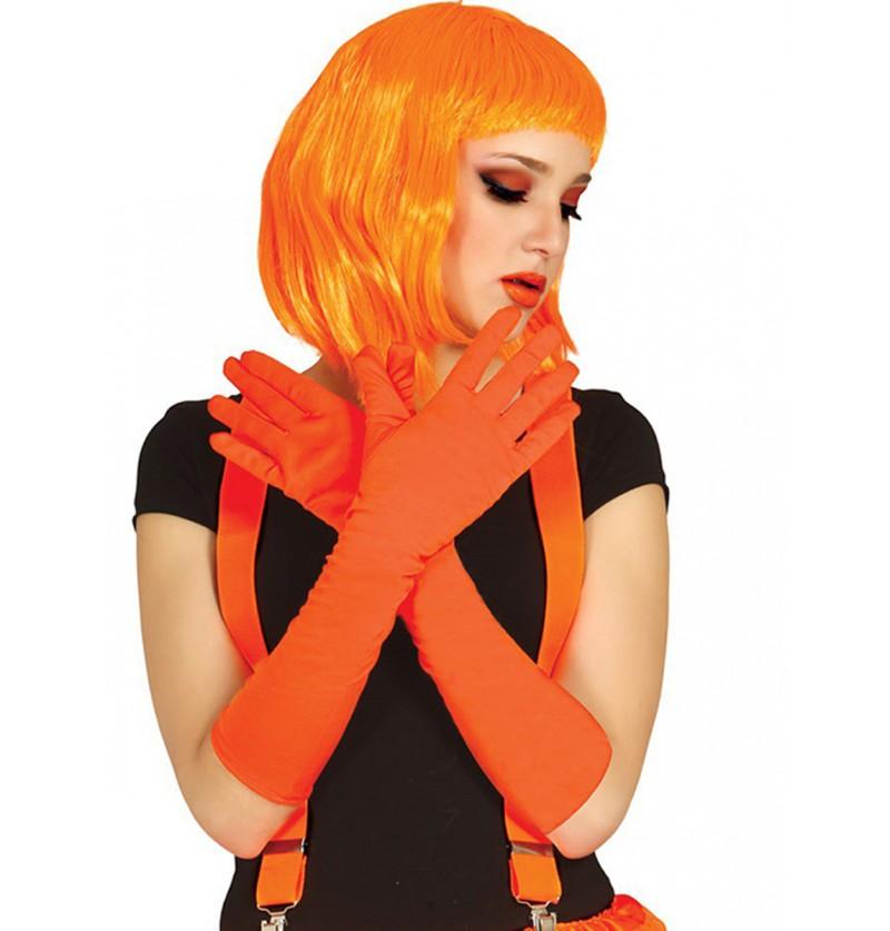 Guantes naranjas largos