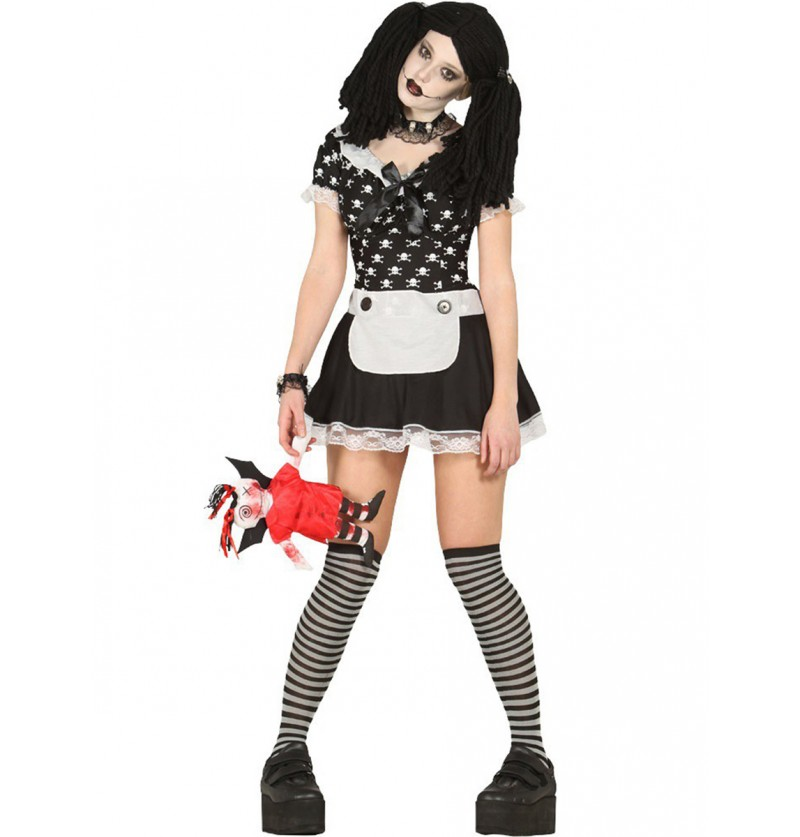 Disfraz de muñeca diabólica fantasma para mujer