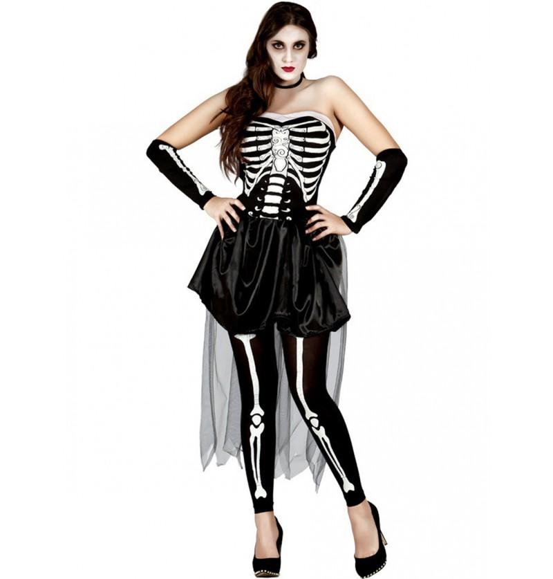 Disfraz de esqueleto sensual para mujer