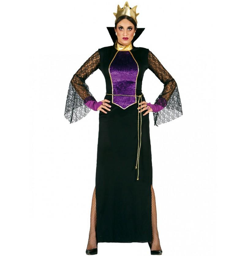 Disfraz de reina malvada del espejo para mujer