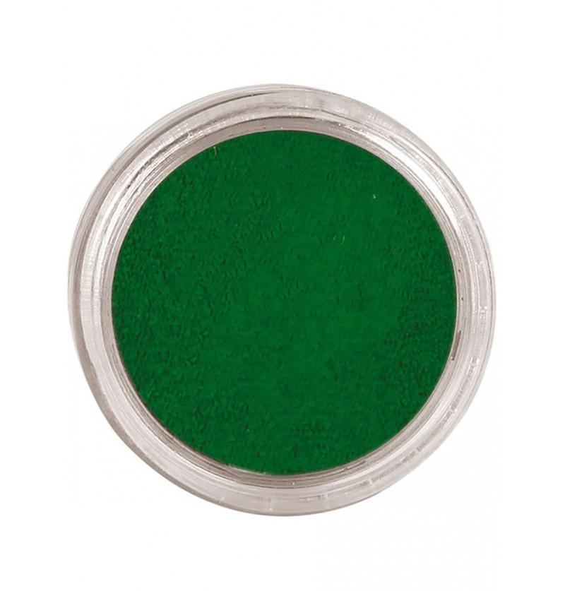 Maquillaje al agua color verde