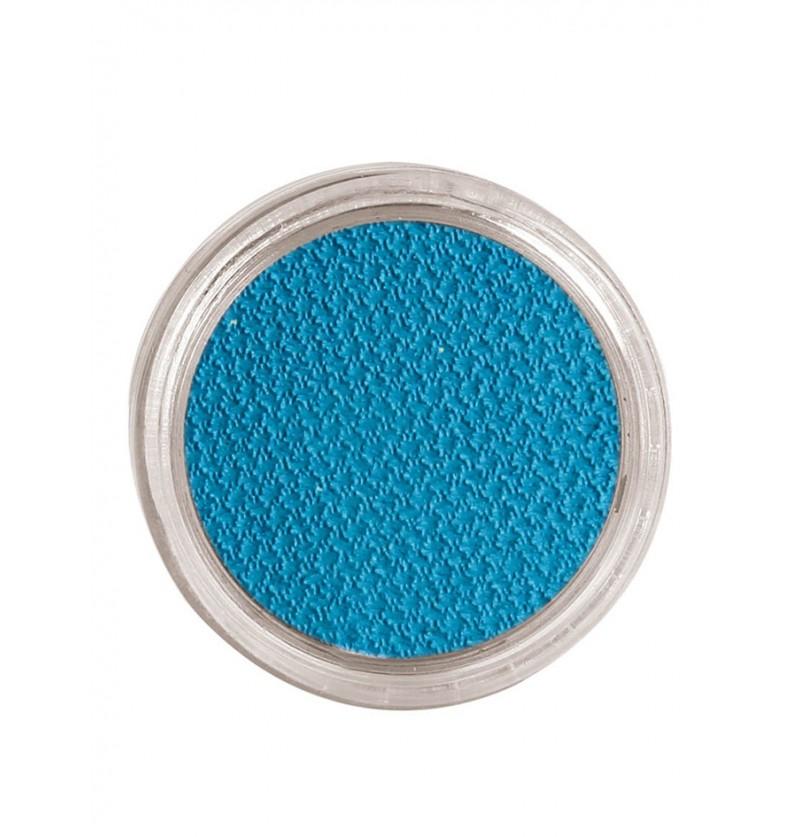 Maquillaje al agua color azul cielo