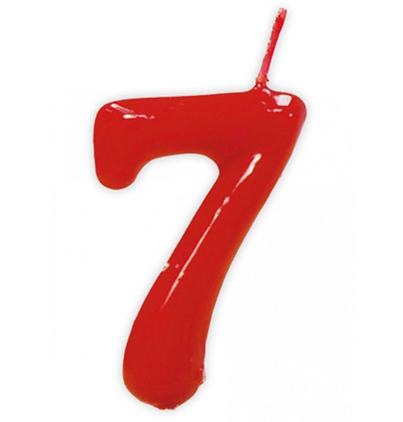 Vela de Cumpleaños Clásica Número 7