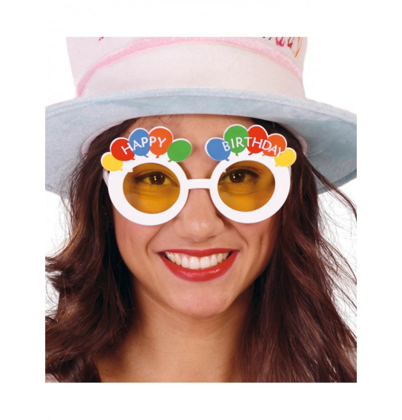 Gafas Happy Birthday Blancas