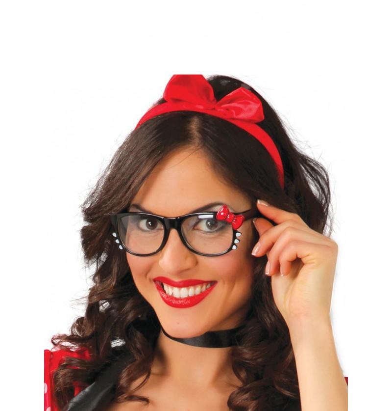Gafas con Lazo Rojo