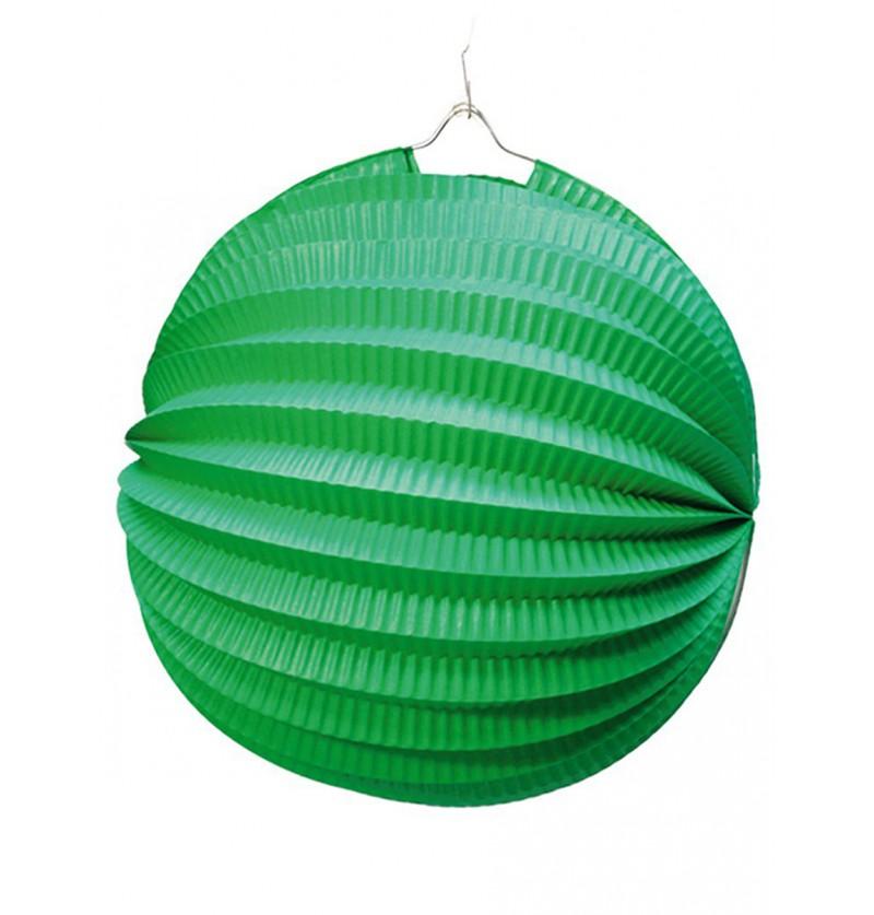 Farol Esférico de 20 cm. Verde