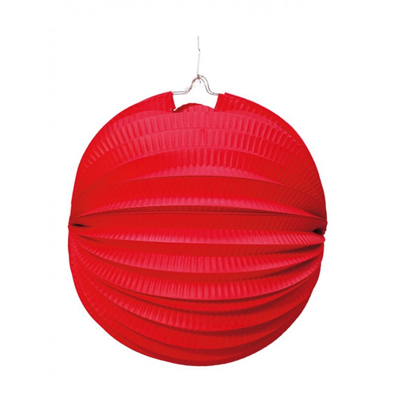 Farol Esférico de 26 cm. Rojo