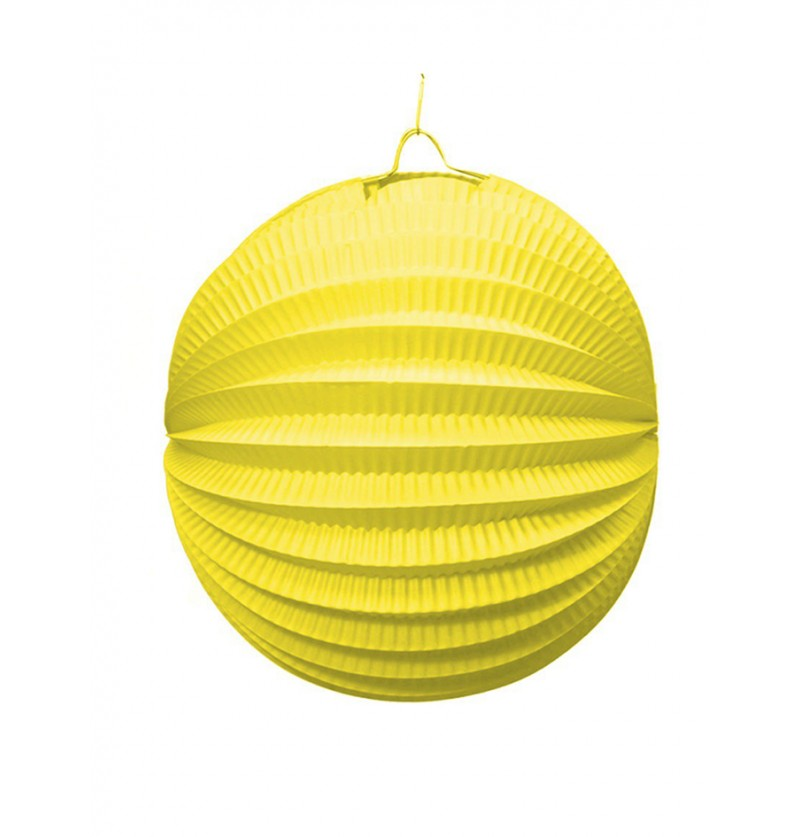 Farol Esférico de 20 cm. Amarillo