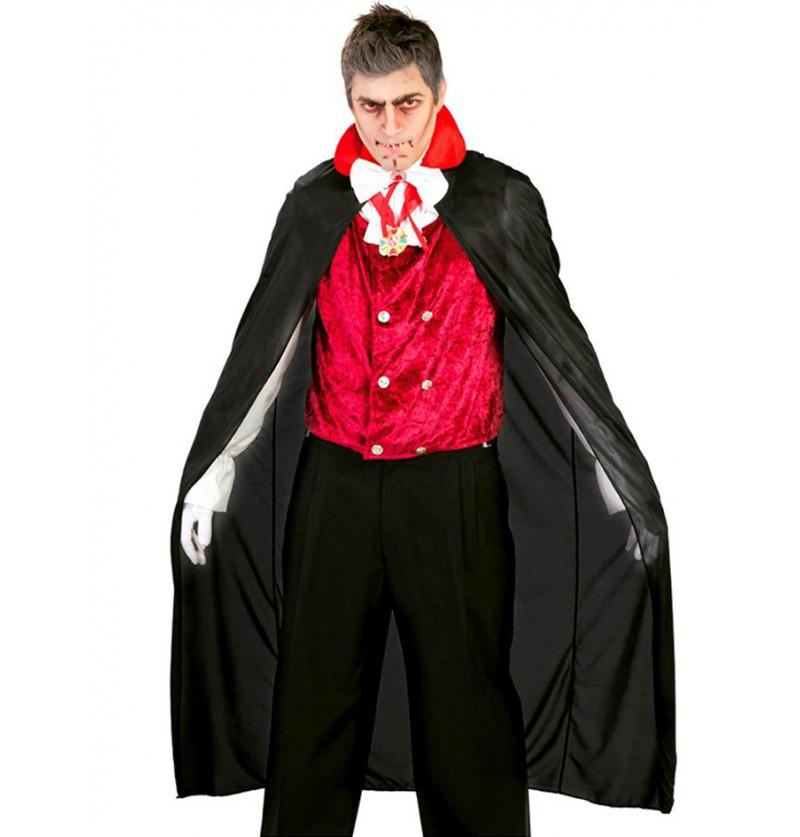 Capa de Vampiro negra 140 cm.