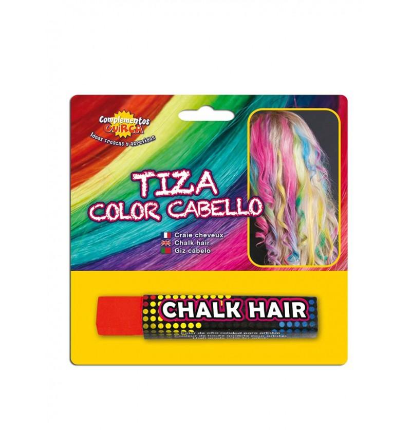 Tiza para colorear el pelo Roja