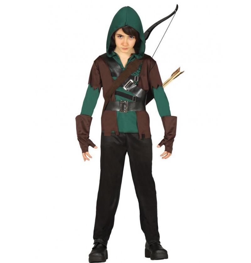Disfraz De Arquero Robin Arrow Para Niño Talla 10 12 Años