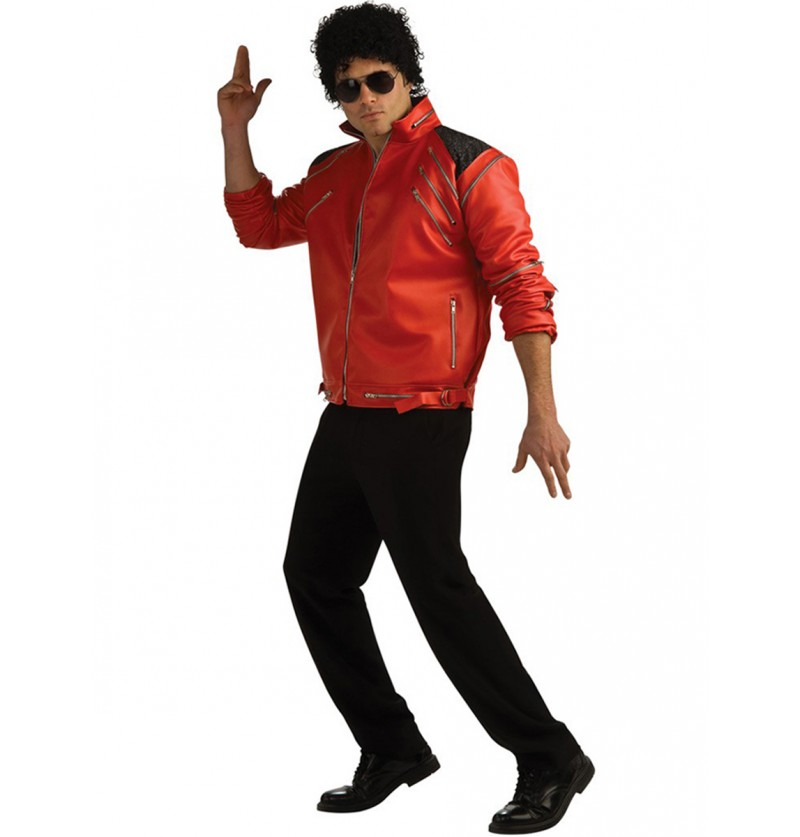 Chaqueta de Michael Jackson Beat It deluxe con cremalleras para adulto