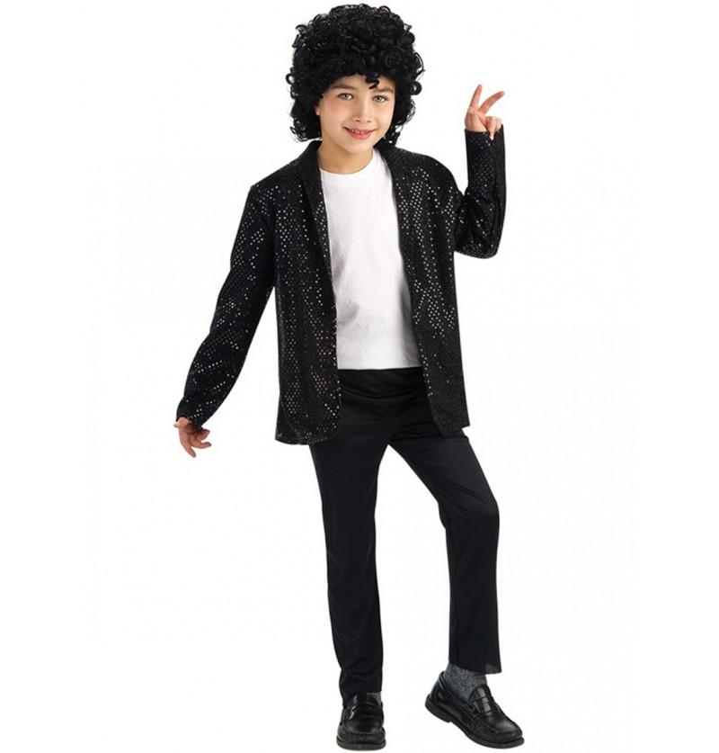 Chaqueta de Michael Jackson Billie Jean con lentejuelas para niño