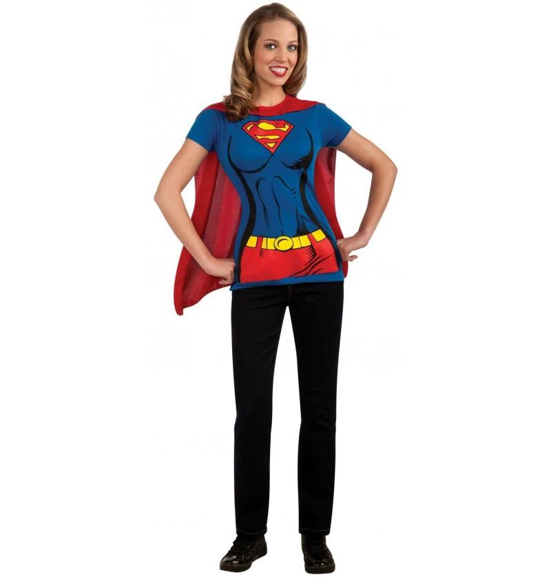 Kit disfraz Supergirl para mujer