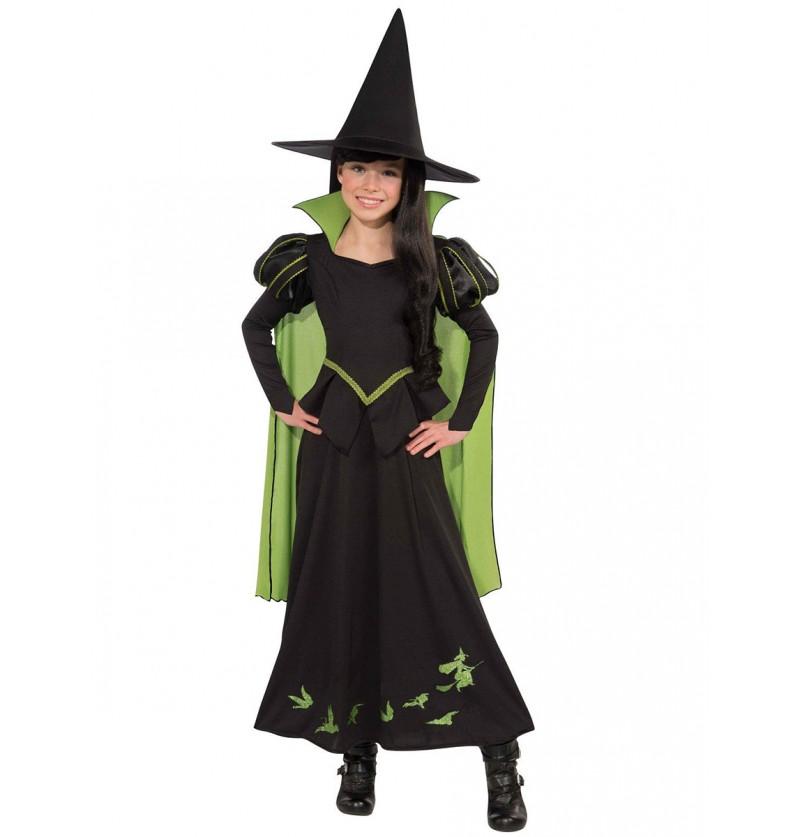 Disfraz de Bruja malvada del oeste El Mago de Oz para niña