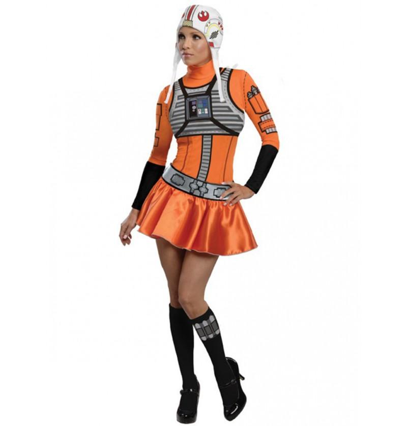 Disfraz de piloto X-Wing Star Wars para mujer