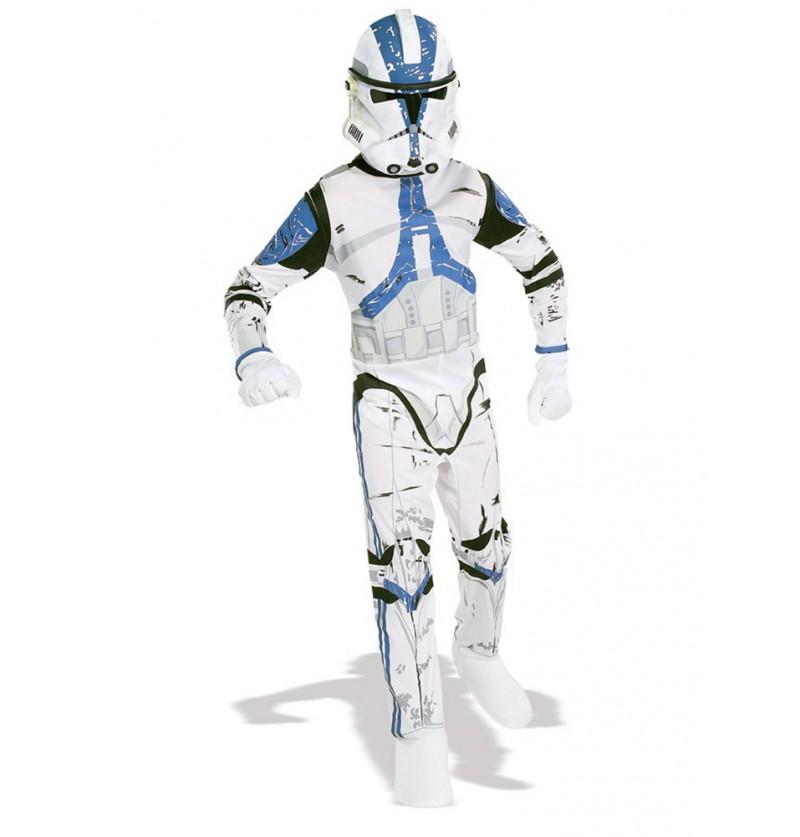 Disfraz de Clone Trooper Legión 501 Star Wars para niño