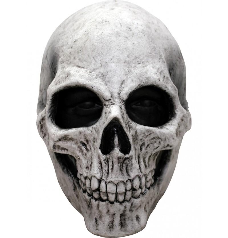 Máscara calavera blanca de látex