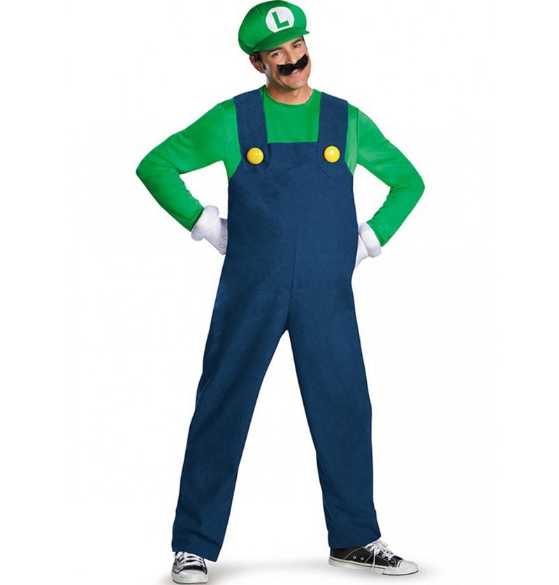 Disfraz de Luigi prestige para adulto
