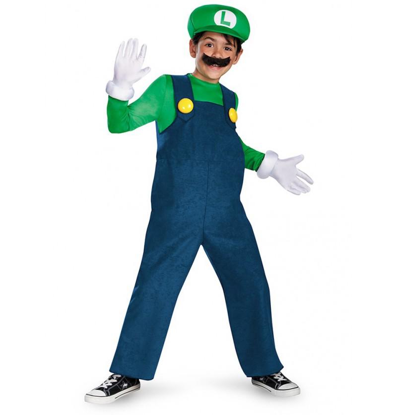 Disfraz de Luigi prestige para niño