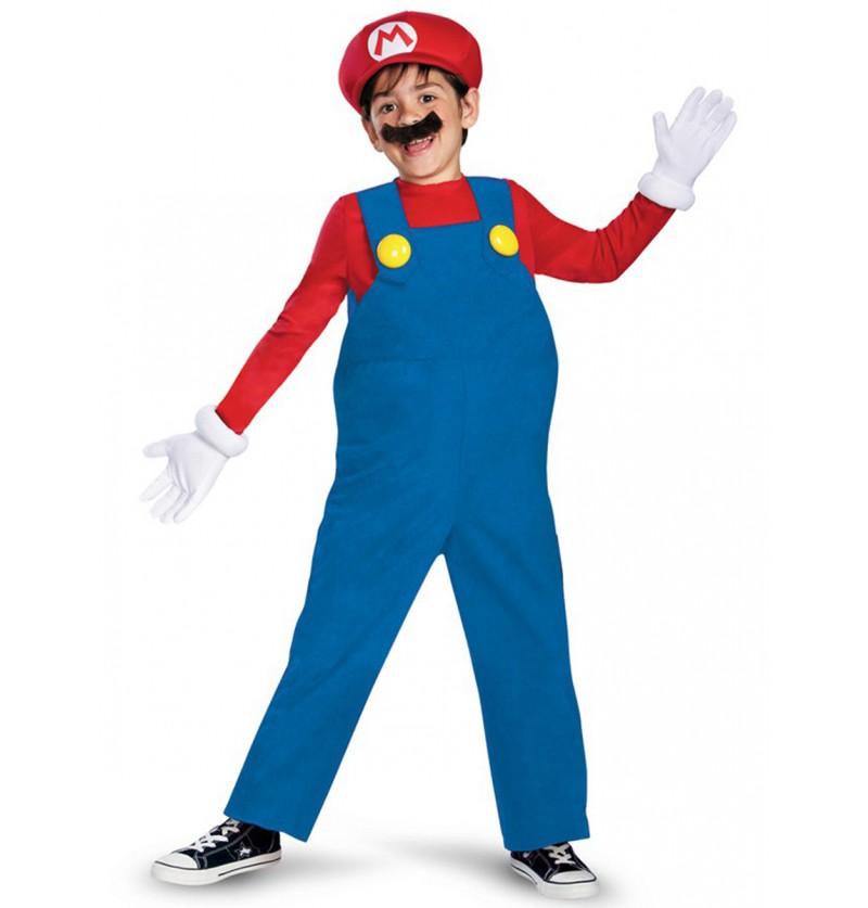 Disfraz de Mario Bros prestige para niño