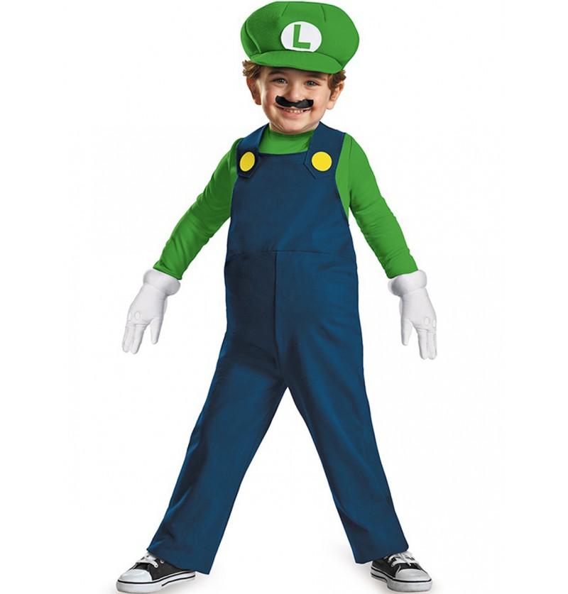 Disfraz de mini Luigi prestige para niño