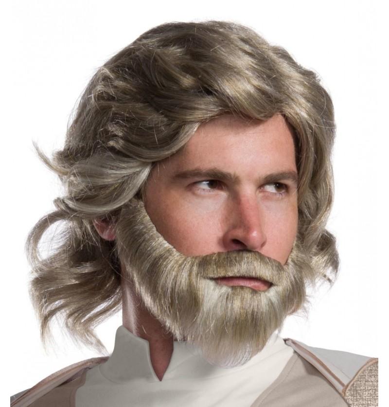 Peluca de Luke Skywalker Star Wars The Last Jedi para hombre