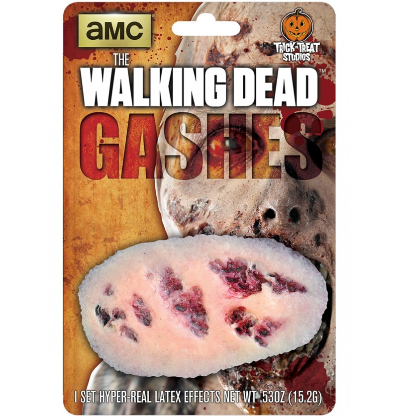 Prótesis de látex arañazos sangrientos The Walking Dead
