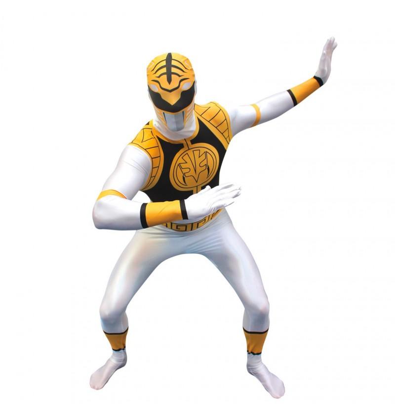 Disfraz de Power Ranger Blanco Morphsuit