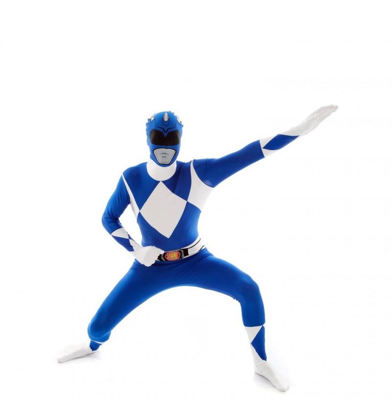 Disfraz de Power Ranger Azul Morphsuit