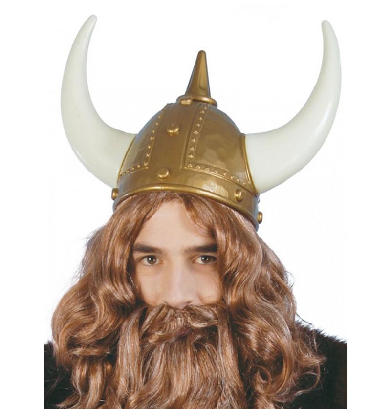 Casco de vikingo valiente