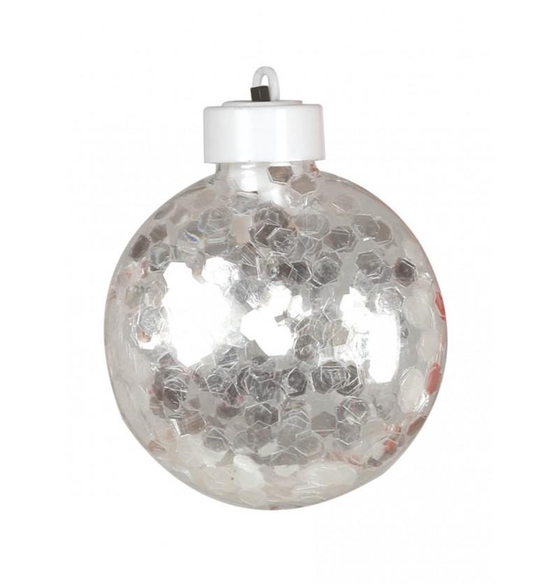 bola navidea plana transparente con luz