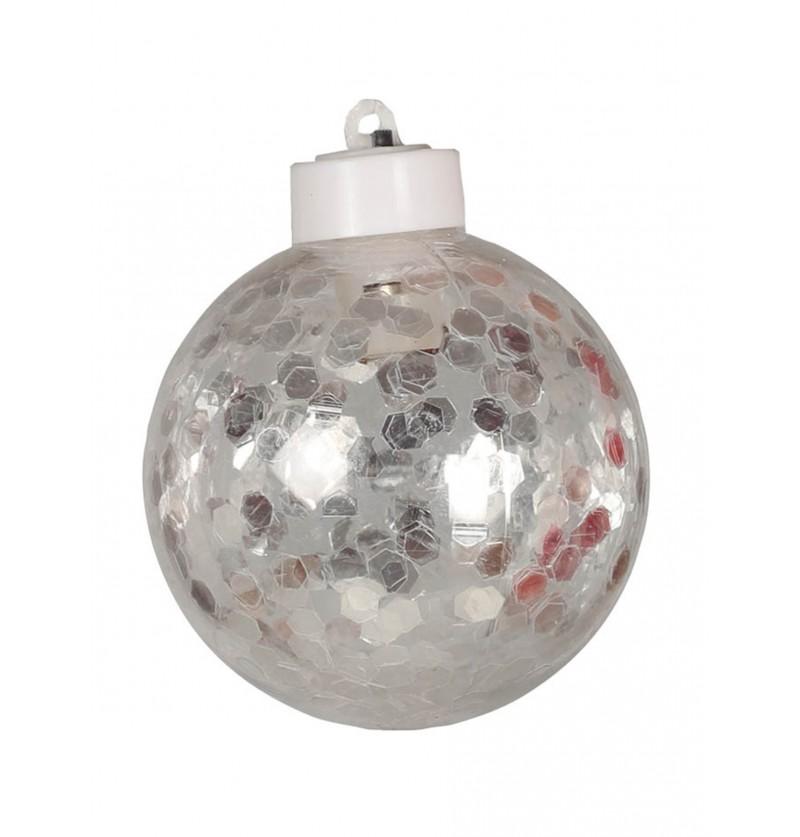 bola navidea transparente con luz